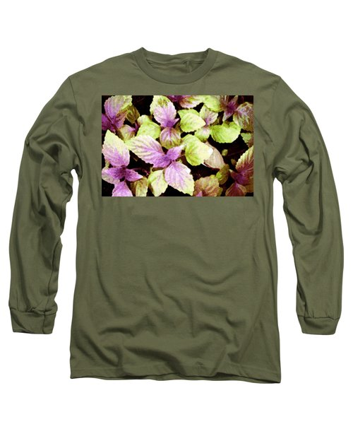 Long Sleeve T-Shirt featuring the digital art Perilla Beauty by Winsome Gunning