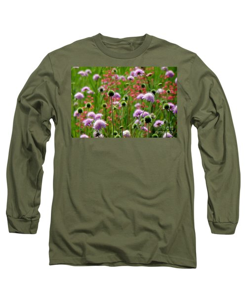 Perky Chives Long Sleeve T-Shirt by Betsy Zimmerli