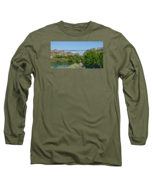 Perrine Bridge At Twin Falls Long Sleeve T-Shirt