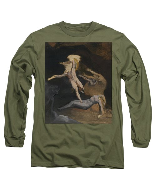 Perseus Slaying The Medusa Long Sleeve T-Shirt by Henry Fuseli