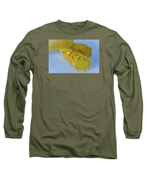 Long Sleeve T-Shirt featuring the photograph Persian Saffron Rock Sugar by Sabine Edrissi
