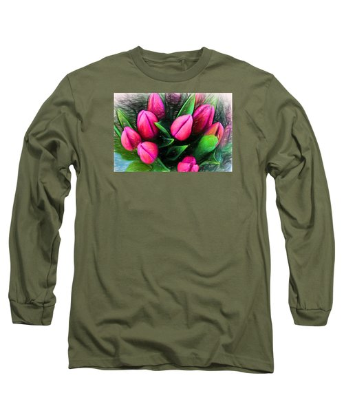 Petal Portrait Long Sleeve T-Shirt by Terry Cork