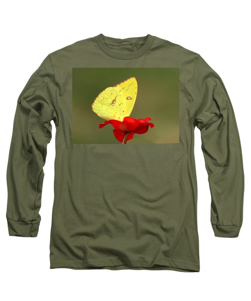 Long Sleeve T-Shirt featuring the photograph Petals And Wings by Sheila Brown
