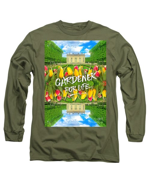 Petit Trianon Tulips Versailles Palace Gardens Paris France Long Sleeve T-Shirt