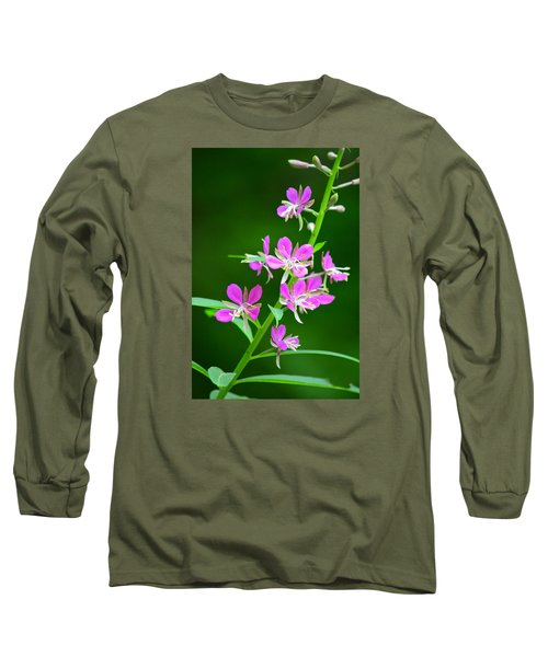 Petites Fleurs Violettes Long Sleeve T-Shirt