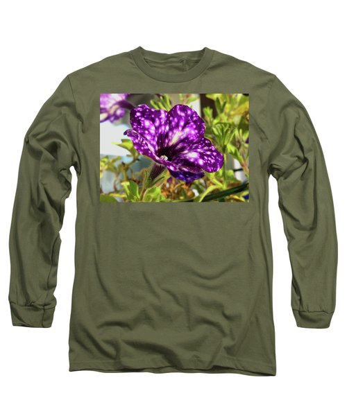 petunia nightsky,Helloween colors  Long Sleeve T-Shirt by Tamara Sushko