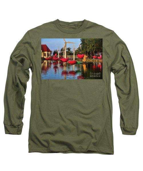 Phan Thiet Sudi Resort 2 Long Sleeve T-Shirt by Chuck Kuhn