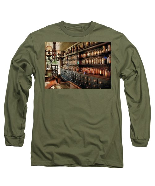 Pharmacy - So Many Drawers And Bottles Long Sleeve T-Shirt