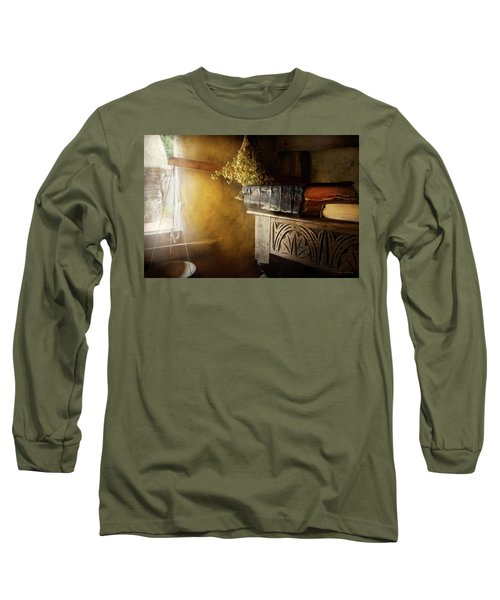 Long Sleeve T-Shirt featuring the photograph Pharmacy - The Apothecarian by Mike Savad