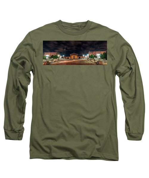 Long Sleeve T-Shirt featuring the photograph Philadelphia Museum Of Art by Marvin Spates