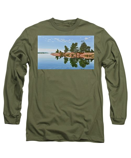 Long Sleeve T-Shirt featuring the painting Philip Edward Island by Kenneth M Kirsch
