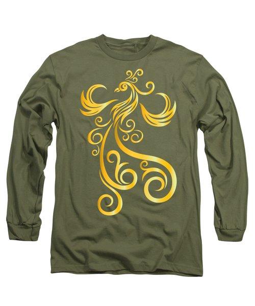 Phoenix Long Sleeve T-Shirt by Martinus Sumbaji