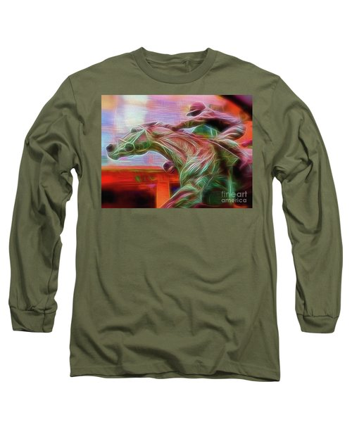 Long Sleeve T-Shirt featuring the digital art Photo Finish by Leigh Kemp