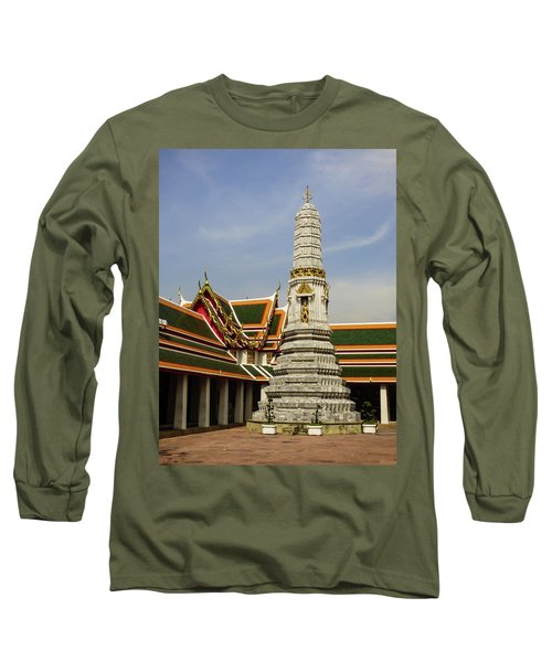 Phra Prang Tower At Wat Pho Temple Long Sleeve T-Shirt