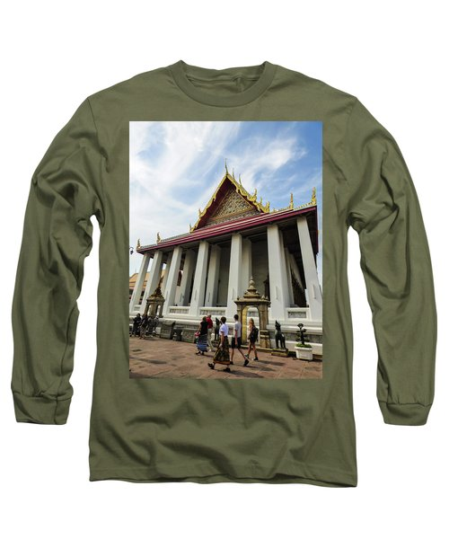 Phra Ubosot At Wat Pho Temple Long Sleeve T-Shirt