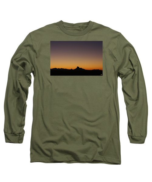 Picacho Peak Sunset Long Sleeve T-Shirt