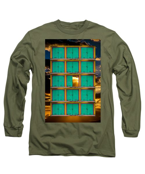 Long Sleeve T-Shirt featuring the photograph Pick A Door by Harry Spitz