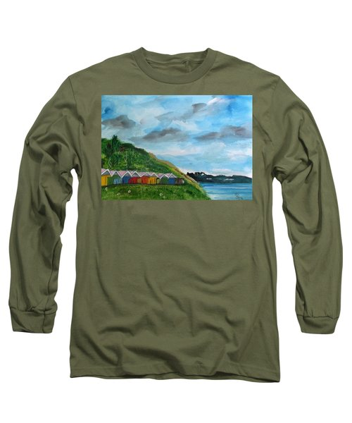 Picture Postcard View Of Scarborough Long Sleeve T-Shirt