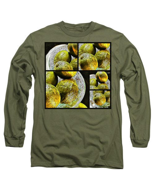 Pieces Of Lime Collage Long Sleeve T-Shirt