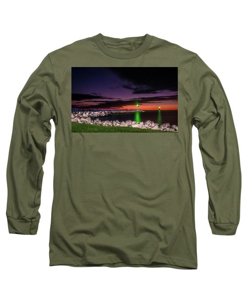 Pier And Lighthouse Long Sleeve T-Shirt