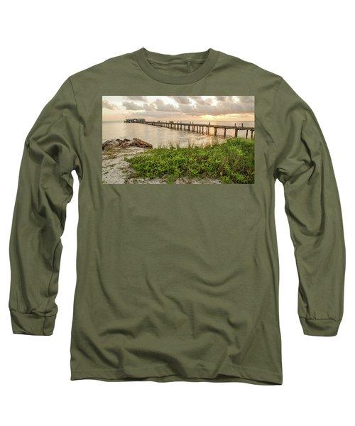 Pier At Sunrise Long Sleeve T-Shirt