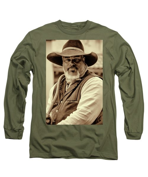 Piercing Eyes Of The Cowboy Long Sleeve T-Shirt