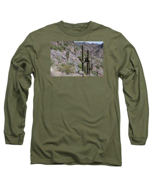 Long Sleeve T-Shirt featuring the photograph Piestewa Peak II by Greg Graham
