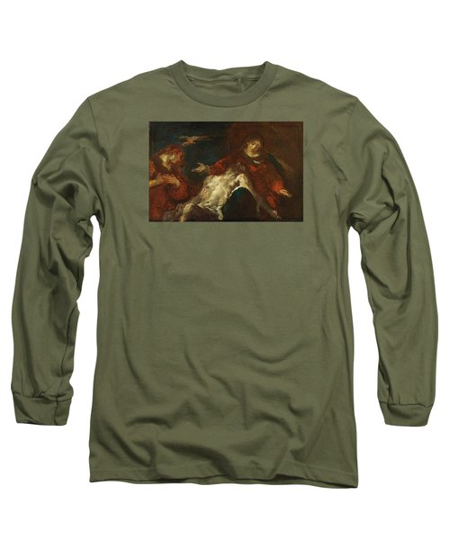 Long Sleeve T-Shirt featuring the painting Pieta With Mary Magdalene by Giuseppe Bazzani