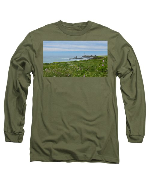 Pigeon Point Lighthouse Long Sleeve T-Shirt by Mark Barclay