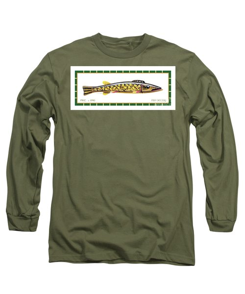 Pike Ice Fishing Decoy Long Sleeve T-Shirt