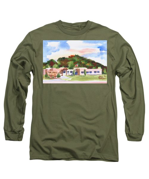 Long Sleeve T-Shirt featuring the painting Pilot Knob Mountain W401  by Kip DeVore