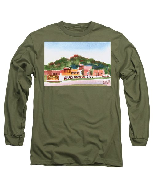 Long Sleeve T-Shirt featuring the painting Pilot Knob Mountain W402 by Kip DeVore