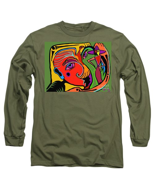Pinching The Bird Long Sleeve T-Shirt by Hans Magden