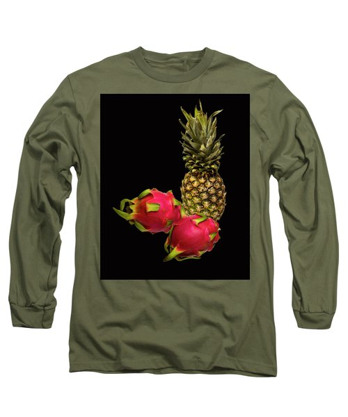 Long Sleeve T-Shirt featuring the photograph Pineapple And Dragon Fruit by David French