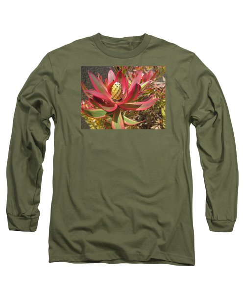 Pineapple King Flower Long Sleeve T-Shirt by Tina M Wenger