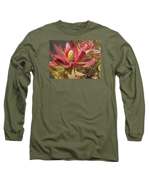 Pineapple King Flower Long Sleeve T-Shirt