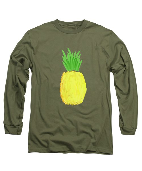 Pineapple Long Sleeve T-Shirt by Priscilla Wolfe