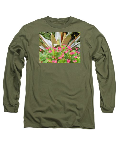 Pink And Spiky Long Sleeve T-Shirt by Kay Gilley