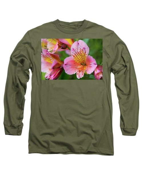 Pink And Yellow Flora Long Sleeve T-Shirt