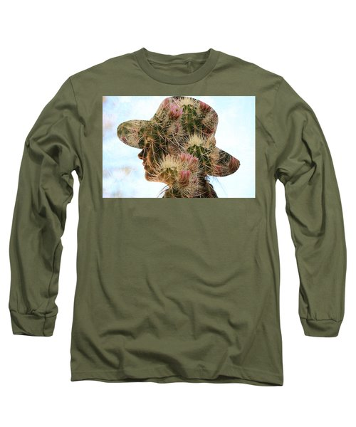 Pink Cactus Long Sleeve T-Shirt