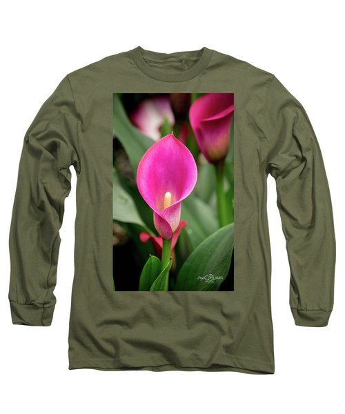 Pink Calla Long Sleeve T-Shirt