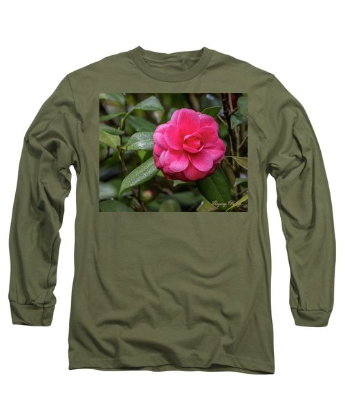 Long Sleeve T-Shirt featuring the photograph Pink Camelia 02 by Gregory Daley  PPSA