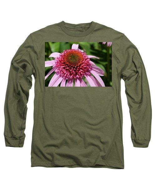 Pink Coneflower Close-up Long Sleeve T-Shirt