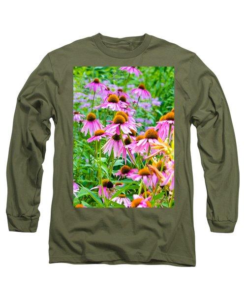 Pink Coneflower Long Sleeve T-Shirt