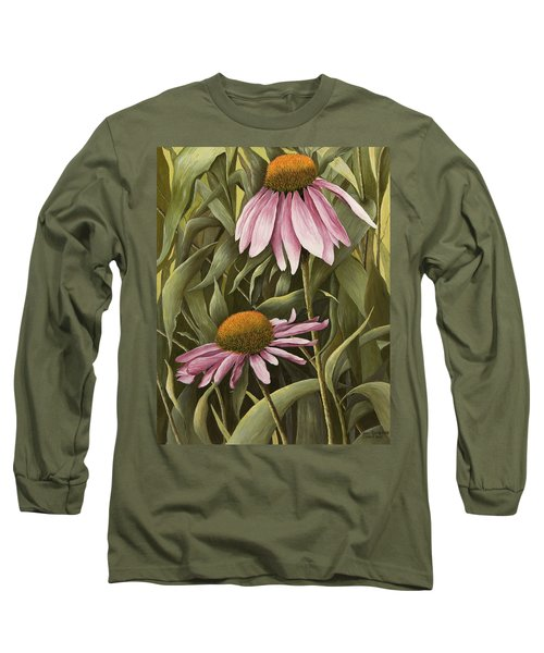 Pink Echinaceas Long Sleeve T-Shirt