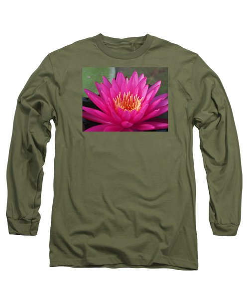 Pink Flame Waterlily Long Sleeve T-Shirt