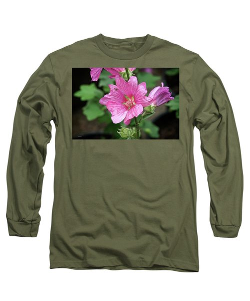 Pink Flower With Bug. Long Sleeve T-Shirt