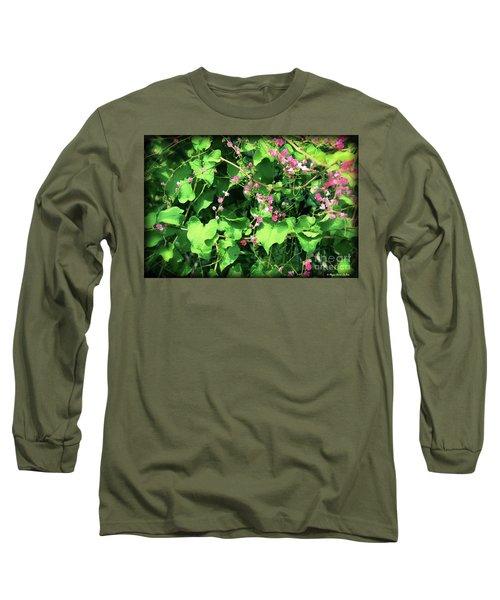 Pink Flowering Vine2 Long Sleeve T-Shirt