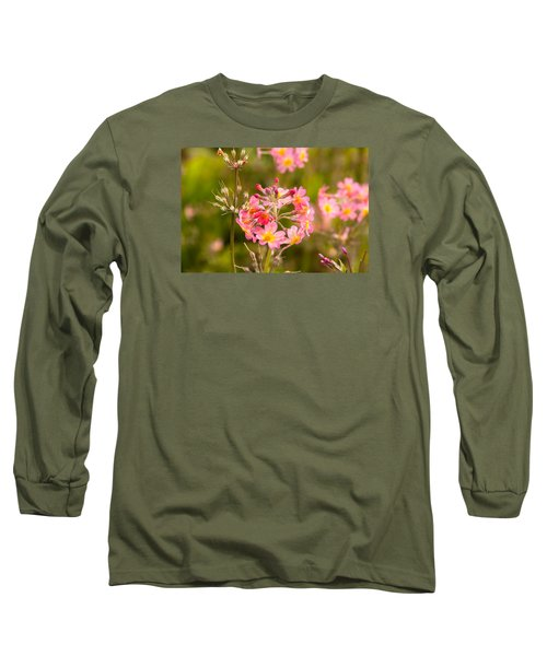 Pink Flowers In Scotland Long Sleeve T-Shirt