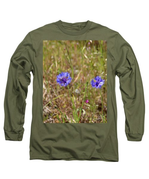 Long Sleeve T-Shirt featuring the photograph Pink In Between by Marie Neder